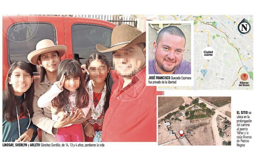 Era casa de seguridad lugar donde con más de 100 plomazos sicarios masacran a tres niñas en Ciudad Juárez y levantan al padre