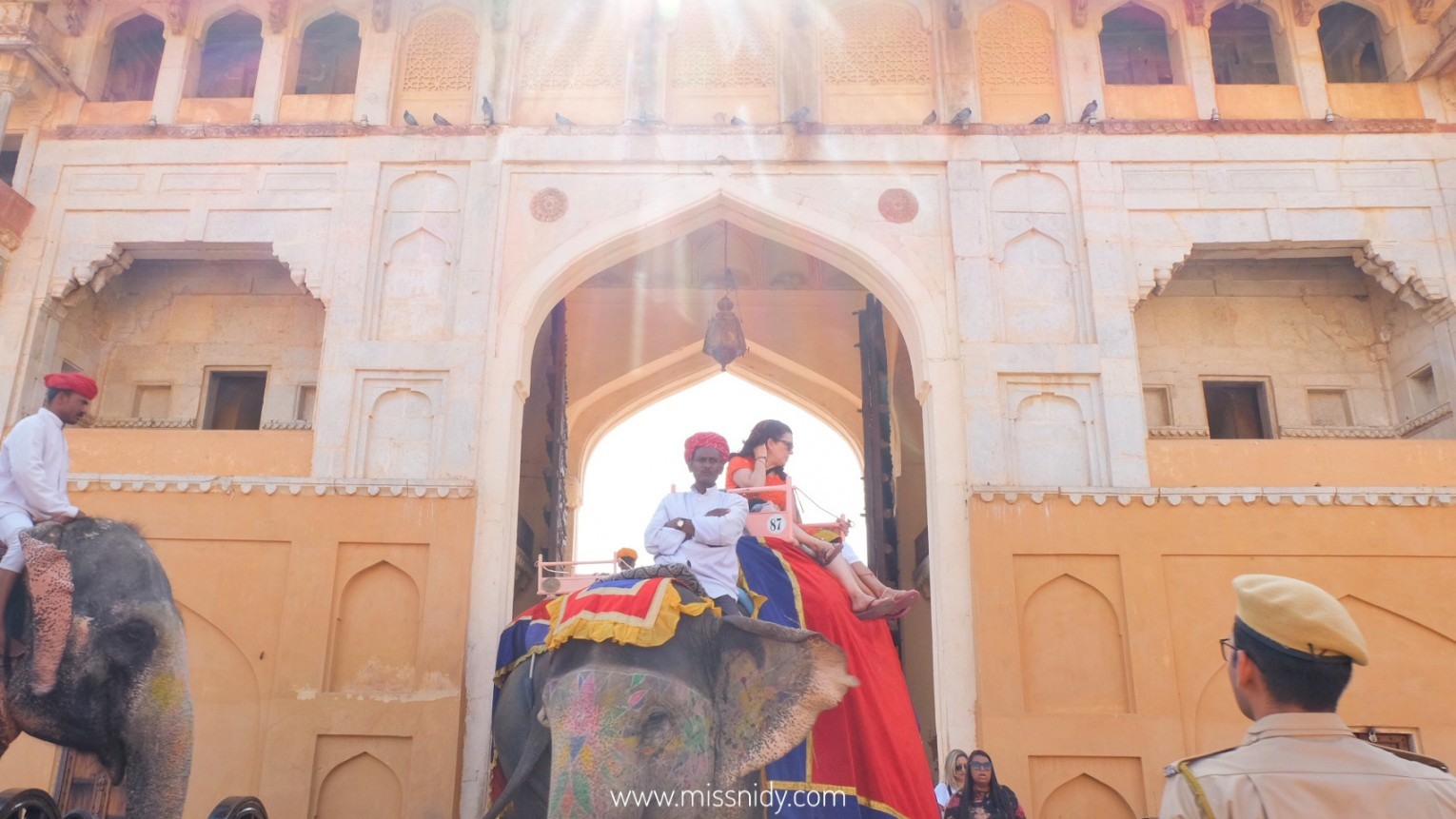 elephant ride at amer fort jaipur