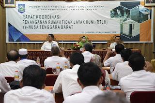 Rapat Koordinasi, Wagub Persoalan RTLH Jadi PR Bersama