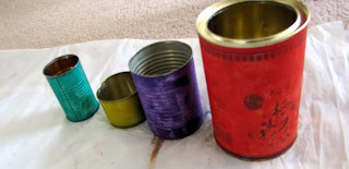 painted metal cans