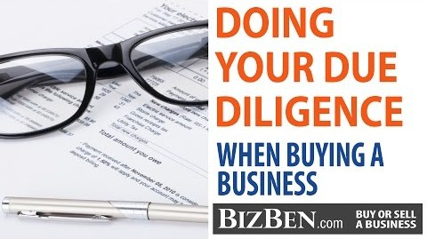 due diligence before buying business