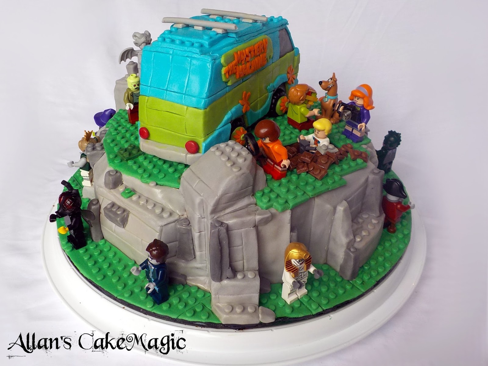 Allans Cake Magic Aarons Lego Scooby Doo Cake