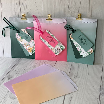 Ombre Gift Bags in 2021-2023 Stampin' Up! In Colors