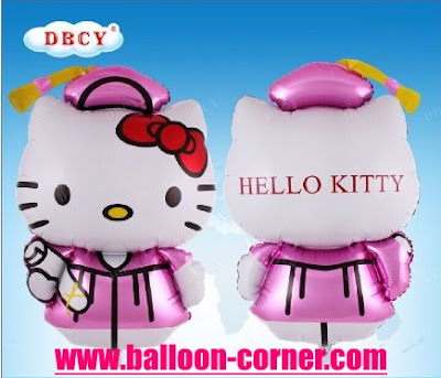 Balon Foil Graduation Hello Kitty