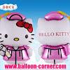Balon Foil Graduation 3 (Foil Graduation Hello Kitty)