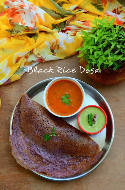 Karuppu Kavuni arisi Dosa/Black Rice Dosa