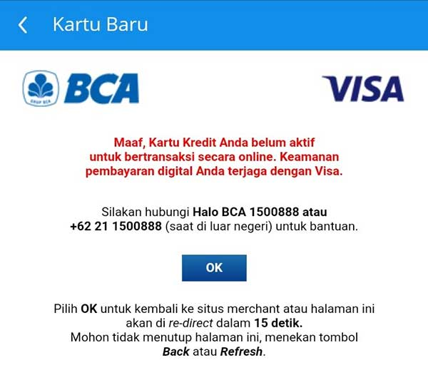 Penyebab Kartu Kredit BCA Tidak Bisa Transaksi Online