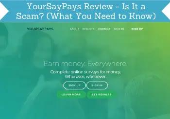 Đánh giá về tiềm năng thu nhập YourSayPays trang khảo sát từ nước Anh