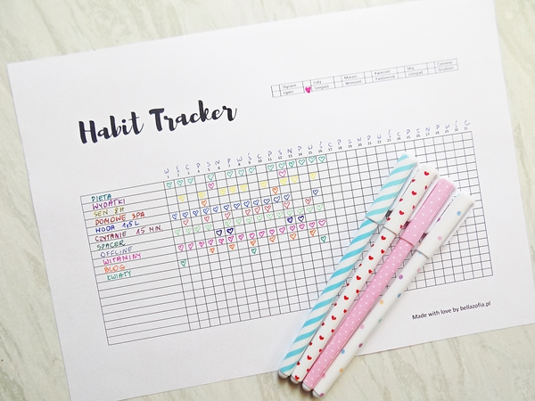 habit tracker, habit tracker do druku