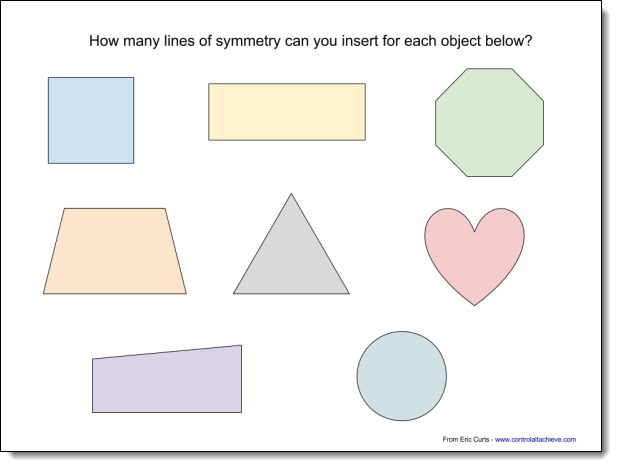 Drawing Lines Of Symmetry : Control alt achieve ways to teach math with google