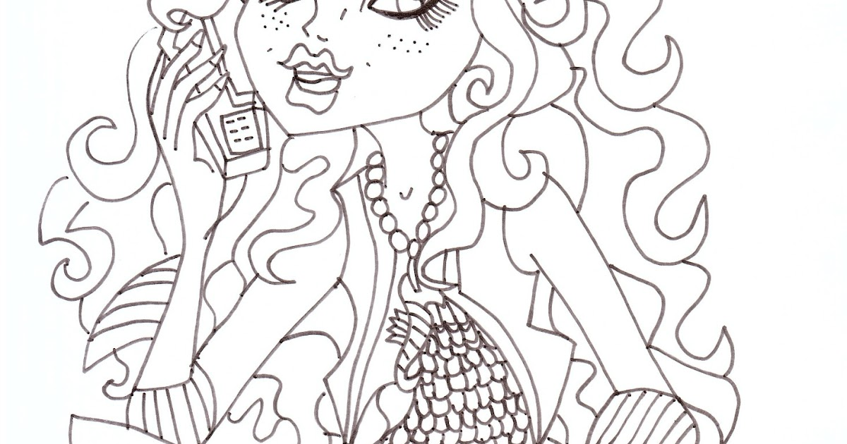 Free Printable Monster High Coloring Pages: Lagoona Blue