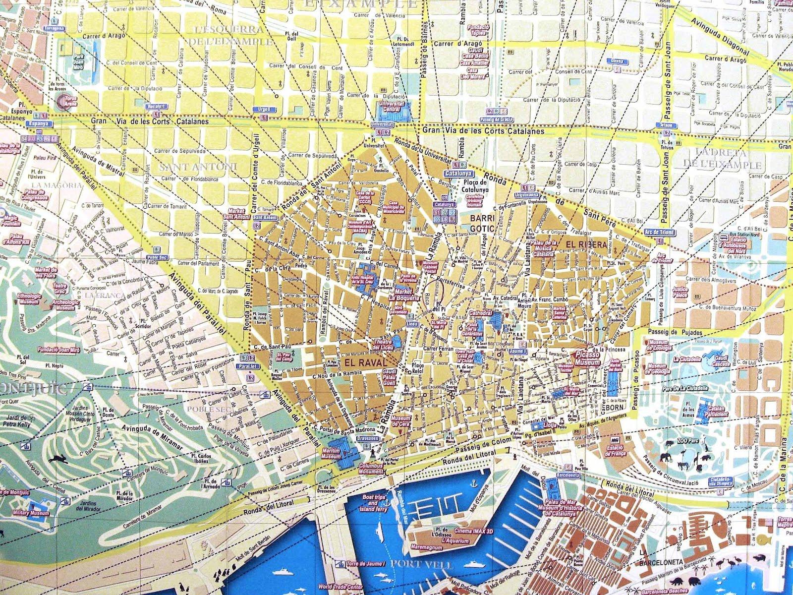 Mapas De Barcelona Espanha Mapasblog