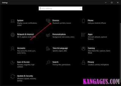 Gambar ilustrasi tampilan windows settings di windows 10