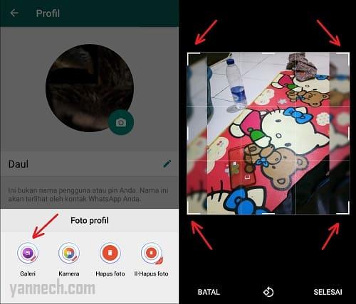 Cara Pasang Foto Profil WhatsApp Secara Penuh Tidak Terpotong