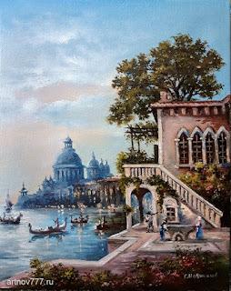 Картина. Вечер в Венеции