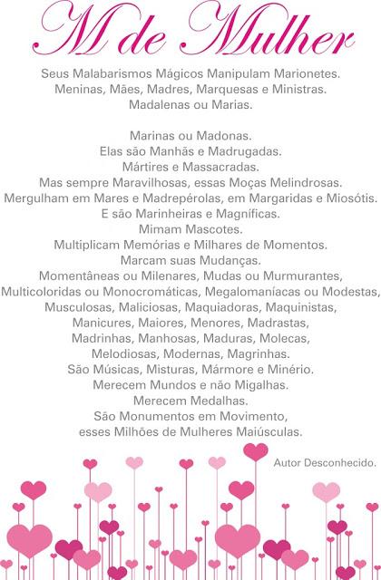 Resultado de imagem para poemA Dia Internacional da Mulher