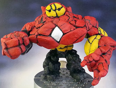 Marvel Golems WIP 21:  Hulkbuster Earth Elemental Gettin His Gold On