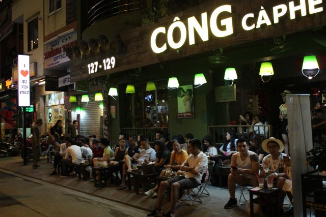 Cong coffee at Bui Vien street.