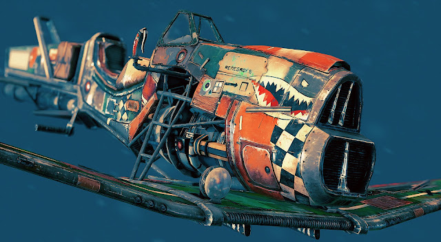Sharktooth Hover-bike by Alex Grahame