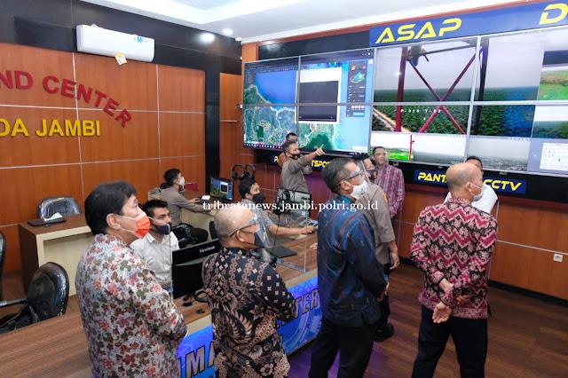 Kapolda Jambi Ajak Wakil Ketua KPK RI dan Wakil Direktur PLN lihat ASAP DIGITAL
