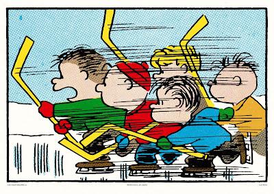 Peanuts Hockey Screen Print by Charles Schulz x Mondo