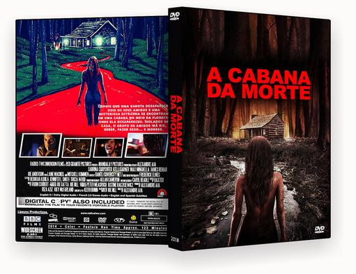 CAPA DVD – A CABANA DA MORTE DVD-R AUTORADO