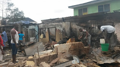 Shops And Houses Burnt As Fire Tragedy Hits Gbagada Area Of Lagos. Photos