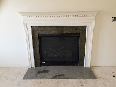 ryan homes fireplace tropical brown granite