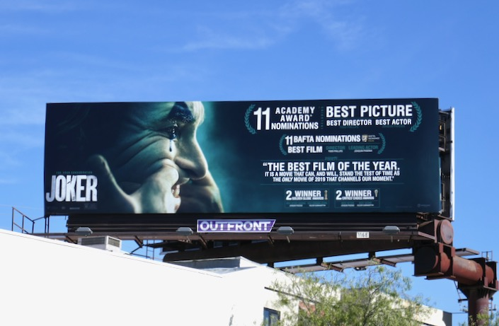 Joker Oscar nominee billboard
