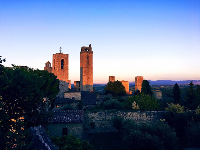 sunset-san-gimignano