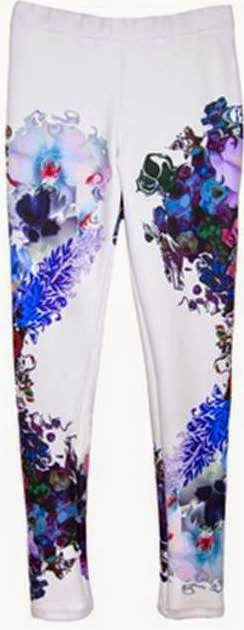 Bonded Leggings in White Force Perspective