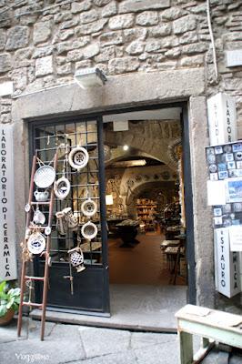 Una delle botteghe artigiane di Viterbo