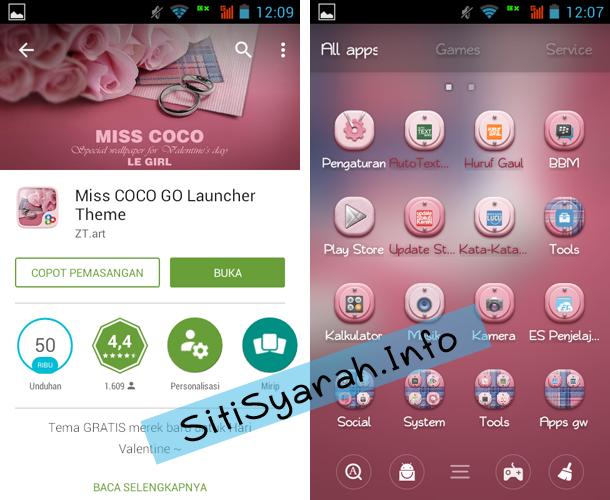 Tema Valentine untuk Android Terbaru