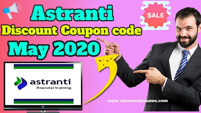 Astranti CIMA Materials Discount Coupon code April & May 2020