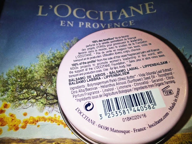 L'occitane solidarity balm inci