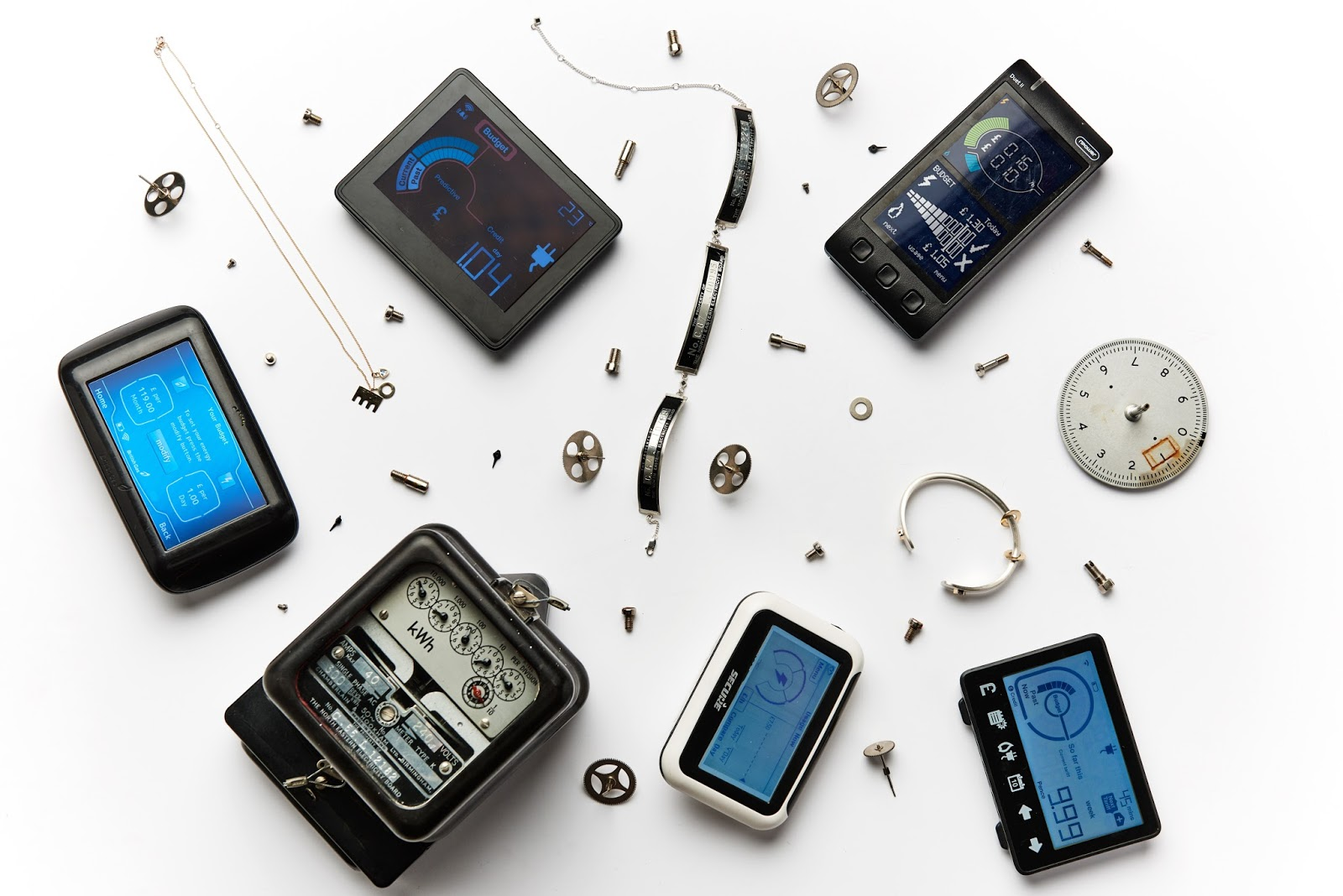 Smart Meter Jewellery designed by Kat Clark, Taislany and Aftab