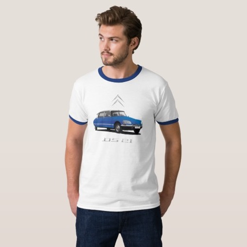 CItroën DS t-shirt blue