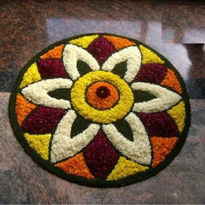 Simple Onam Pookalam Design
