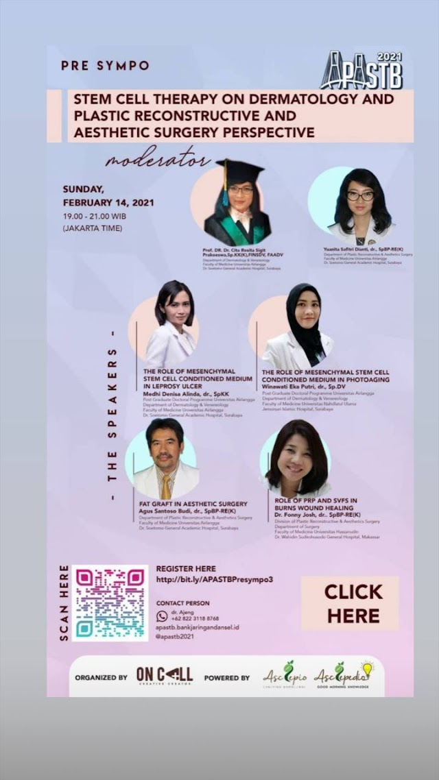 Pre Sympo Stem Cell Therapy on Dermatology and Plastic Reconstructive and Aesthetic Surgery Perspective