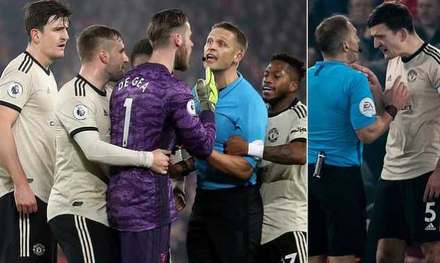 OMG! Manchester United Charged By FA After Referee Incident In Liverpool 2-0 Loss