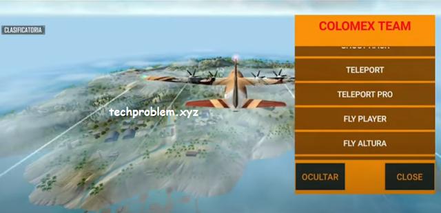 Free Fire Mod Menu Colomex Team Auto Headshot Fly Player Teleport Antiban