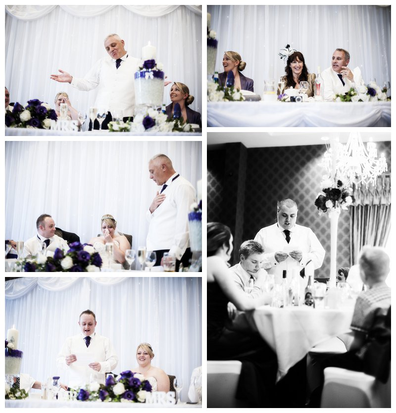wedding cakes barnsley area blue lights photography wedding purple and white themed 23862