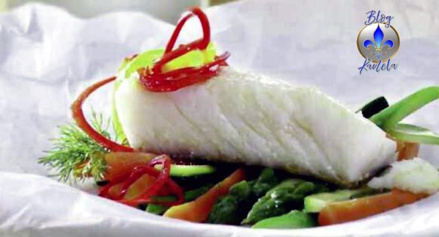 Bacalao en Papillo con Verduras
