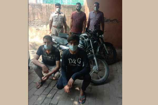 faridabad-crime-branch-sector-48-arrested-bullet-loot-accused