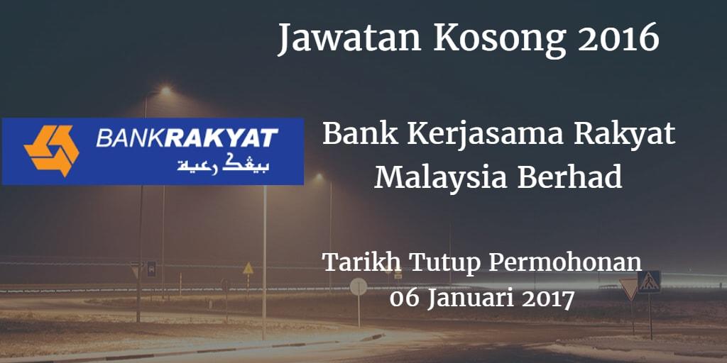 Jawatan Kosong Bank Rakyat 06 Januari 2017