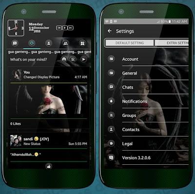 BBM MOD Black Extra Fitur Sosmed v3.2.0.6 APK