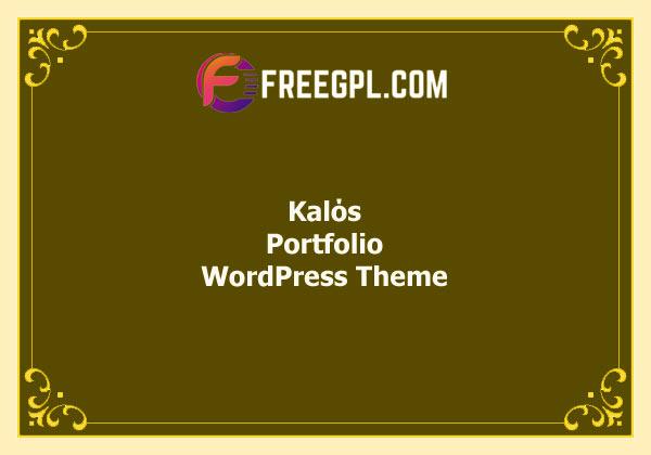 Kalόs - Portfolio WordPress Theme Free Download