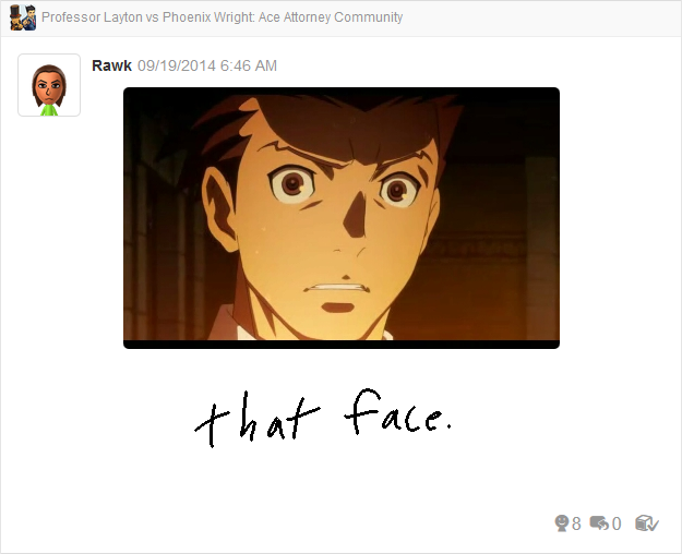 Professor Layton vs Phoenix Wright Ace Attorney scared face
