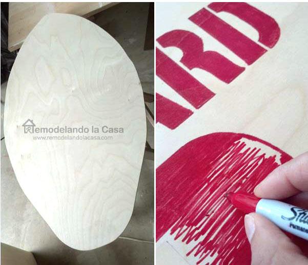 how to make a skimboard wall art