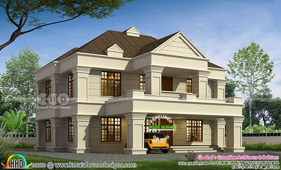 2945 sq-ft 5 BHK Colonial house plan